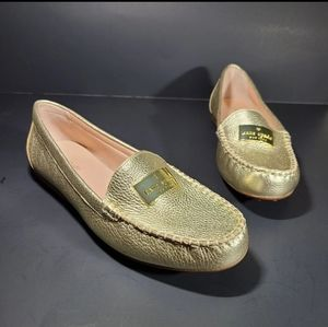 Kate Spade Corrie Gold Leather Slip On